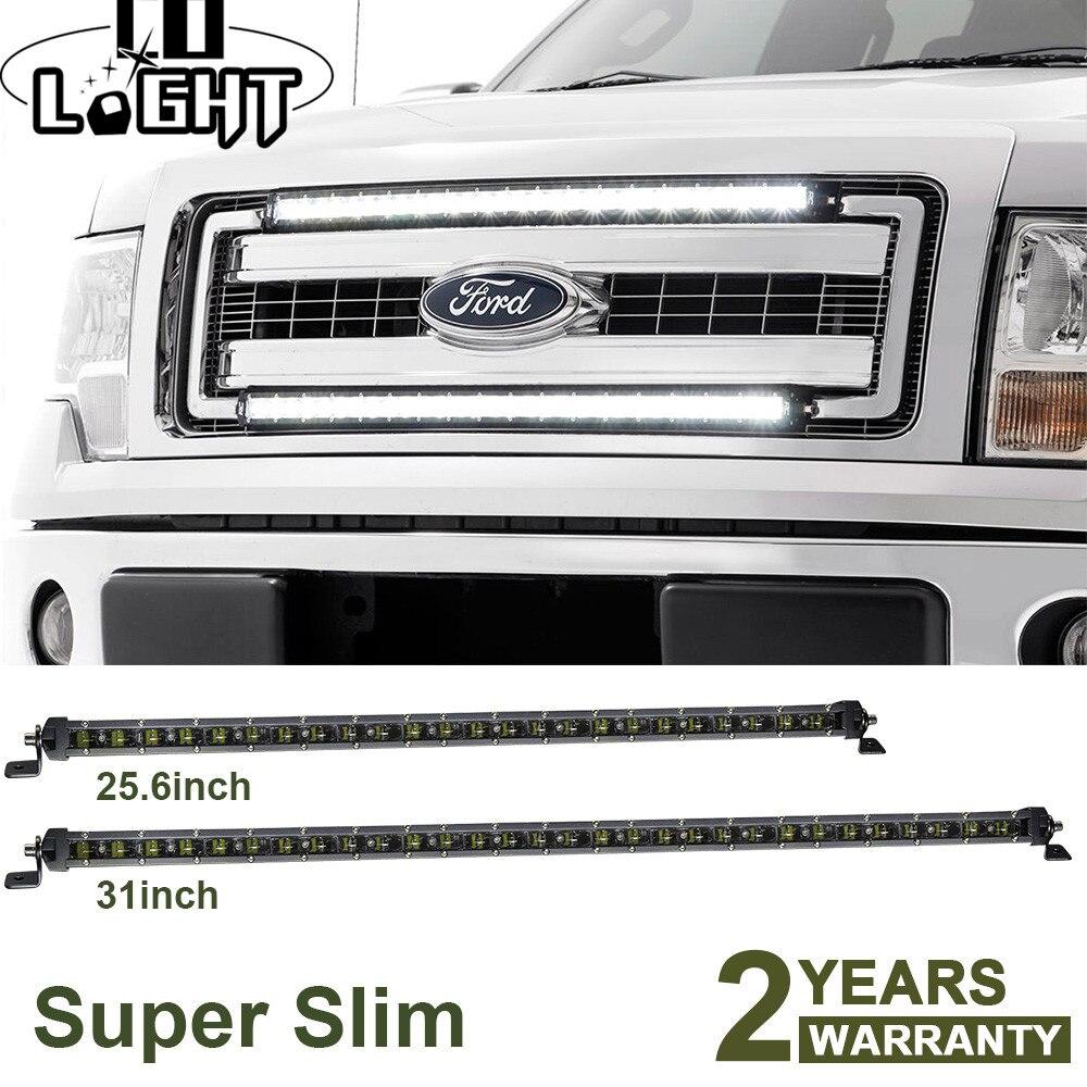 CO LIGHT Super Slim 25.6&31 inch Led Light Bar Spot Flood Combo Auto Led Work Light for Truck Lada ATV 4X4 Boat Offroad Led Bar