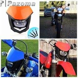 H4 motocykl lampa przednia reflektor motor terenowy Supermoto uniwersalny reflektor dla KTM SX EXC SX f SXF SMR 250 450