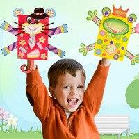 Het zelf maken Kinderen Dier Cartoon Handpoppen Baby Handschoenen Poppen Speelgoed voor Bedtime Stories ouder-kind interactie