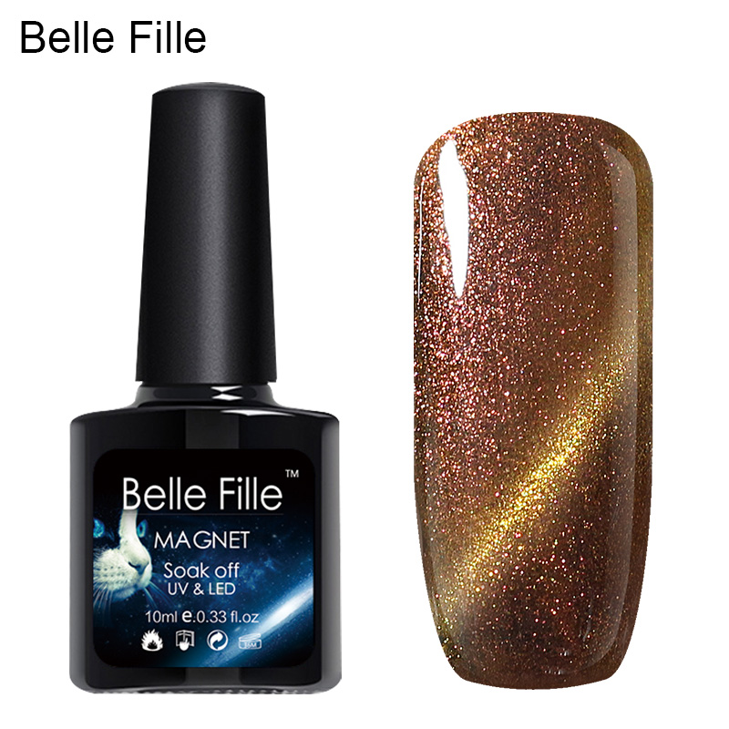 Belle Fille UV gél köröm macska szemek kaméleon mágneses - Köröm művészet