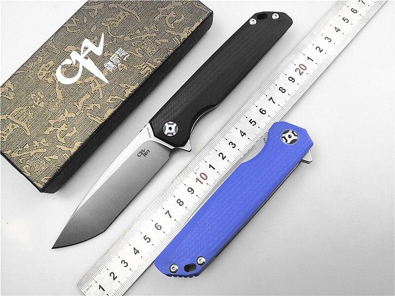 D2 faca marca ch ch3507 dobrável edc faca g10 lidar com bolso faca de acampamento ao ar livre caça tático faca ferramentas