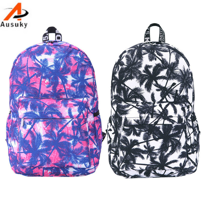 New women canvas backpack cute travel bags printing backpacks new style laptop backpack for teenage girls