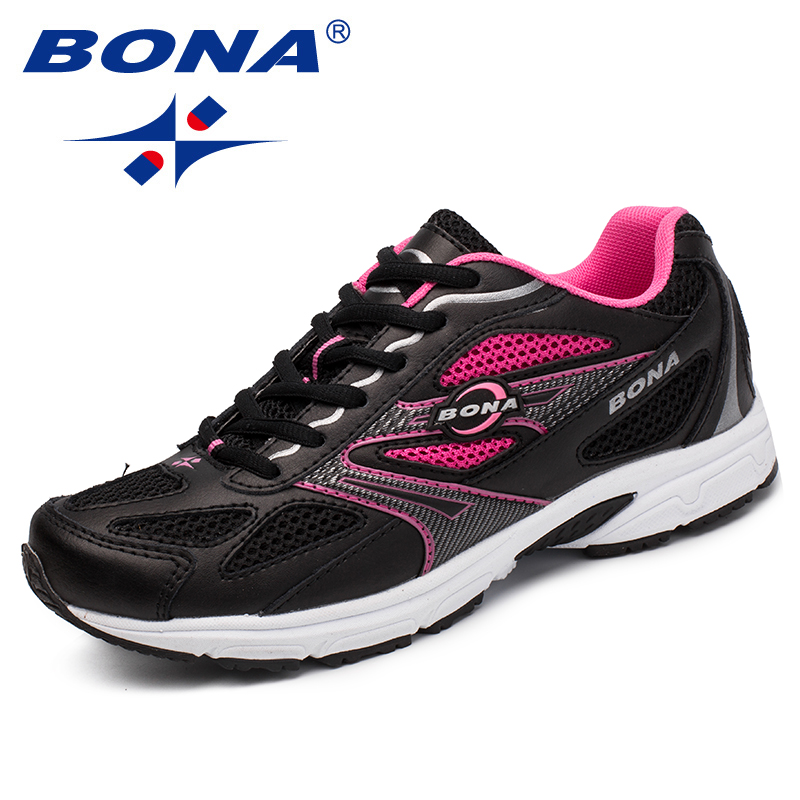 BONA New Arrival Classics Style Women Sneakers Shoes Trendy Femme Flats Mesh Sapato Feminino Zapatos Mujer Soft Lady Comfort