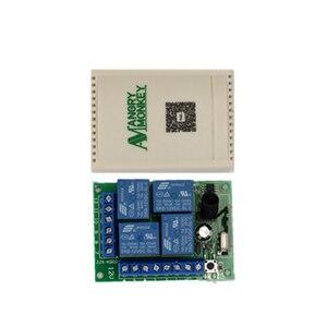 Image 4 - 433 Mhz evrensel kablosuz uzaktan kumandalı anahtar DC12V 4CH röle alıcı modülü ve 5 adet RF uzaktan kumanda 433 Mhz verici