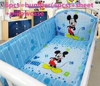 Discount 6 7pcs Mickey Mouse Baby Crib Bedding Set Baby Boy Girl Crib Bedding Sets Ropa