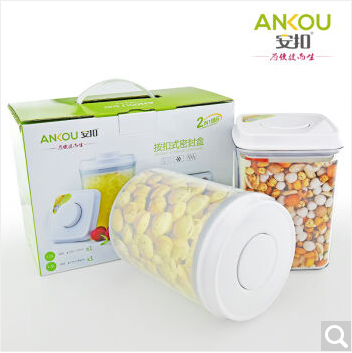 Stock Clearance ANKOU 2 Units a Set Transparent Airtight Container