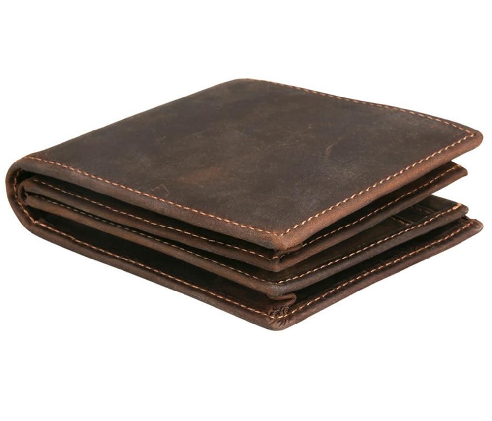 Men/'s RFID Blocking ID Window Zipper Pocket Leather Bifold Wallet