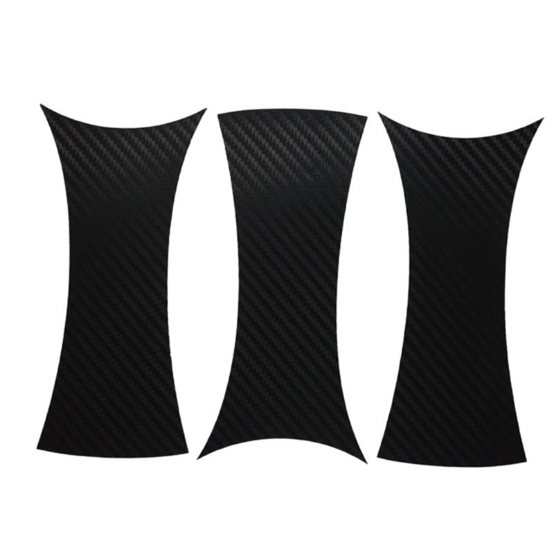 Savanini Car-Styling 1set 17 Inches Carbon Fiber Wing Wheels Mask Decal Sticker Trim For Peugeot 408 L Style universal auto car bumper moulding decorative fins canards front splitter sticker carbon fiber car styling for all cars 4pcs set