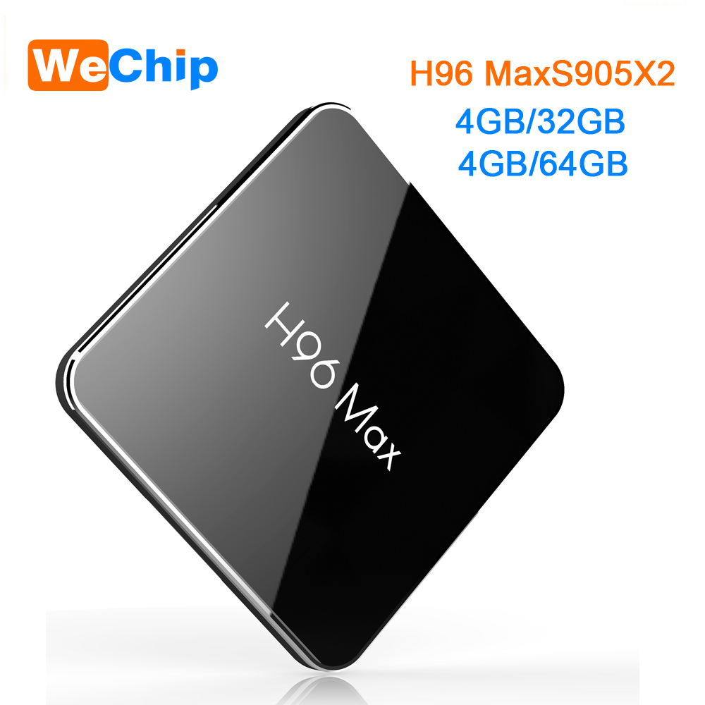 H96 max X2 4 GB 64 GB Astuto di Android 8.1 TV Box 2.4G + 5.8G Dual Wifi BT 4.0 Amlogic S905X2 Quad Core 4G 32G H.265 4 K HD Set Top BoxH96 max X2 4 GB 64 GB Astuto di Android 8.1 TV Box 2.4G + 5.8G Dual Wifi BT 4.0 Amlogic S905X2 Quad Core 4G 32G H.265 4 K HD Set Top Box