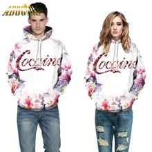 Повседневная Пуловеры Толстовки Кофты Для Женщин/Мужчин Мода 3D Цветы Письма Печатаются Прохладный Длинным Рукавом Дамы/Мужчины Носят
