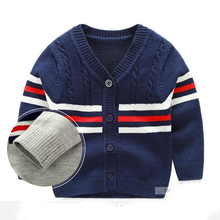 Baby Sweater Stripe V-neck