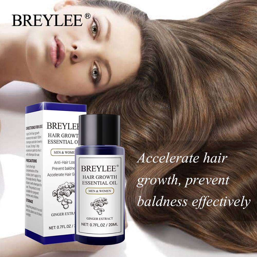 BREYLEE 3PCS Hair Growth Essential Oil F
