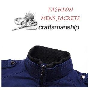 Image 4 - Jaquetas de bombardeiro masculino 2019 primavera outono jaquetas e casacos nova moda outerwear windbreakers para homem manteau homme 698