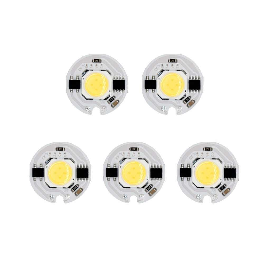 5pcs a lot 3W 5W 7W 9W AC185-AC220V LED COB Chip Light No Need driver Smart IC bulb Lamp For DIY LED Floodlight Spotlight