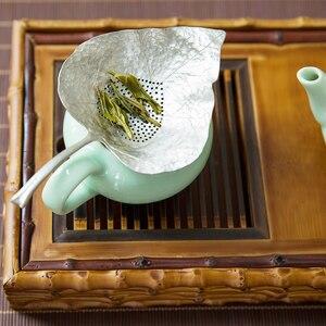 Металлический оловянный Чайный фильтр для Gongfu аксессуары для чая фильтр инструменты креативная кухонная сетка для заварки чая форма листь...