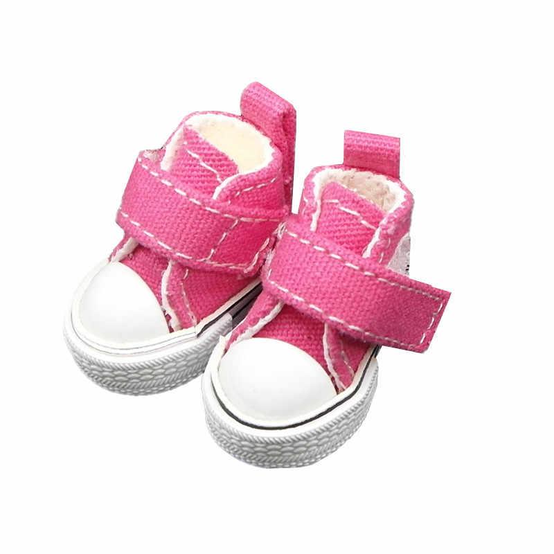 Tilda 3.5cm Mini buty dla lalek dla Blythe Doll Ob24 zabawka lalka 1/6, płócienne trampki buty dla EXO KPOP wypchana lalka buty wysokiej jakości