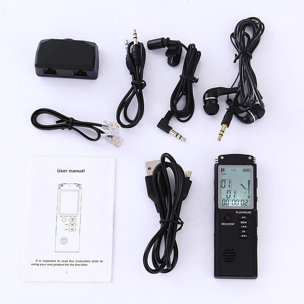 Digital Voice Recorder Unterhaltungselektronik Clever Digital Audio Voice Recorder Mit Echtzeit Display Eine Schlüssel Lock Screen Telefon Aufnahme Mp3 Player T60 Stimme Aufnahme Stift
