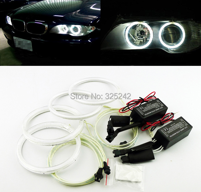 ФОТО For BMW E46 325ci 330ci projector headlight 2004-2006 Excellent CCFL angel eyes kit Ultra bright illumination Halo Ring kit
