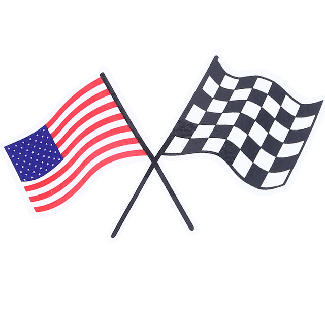 Usa american flag sticker car fender window door rear head decor sport racing flag styling motorcycle