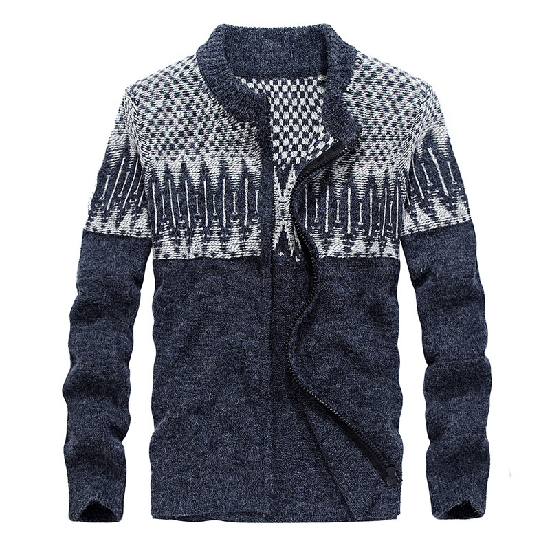 Drop Shipping New Arrivals Casual Knitwear Men Sweaters Cashmere Zippers Male Cardigan S-XXL XP12