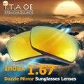 1.67 Index Dazzle Color Mirror Prescription Sunglasses Lens For Optical Myopia Reading Eyewear Frames Anti UV Scratch Coating