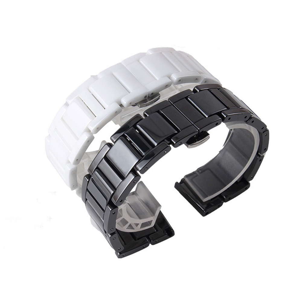 20mm 22mm Watchband Seramik Kayış Samsung Dişli S3 Üç Linkler - Saat Aksesuarları - Fotoğraf 4