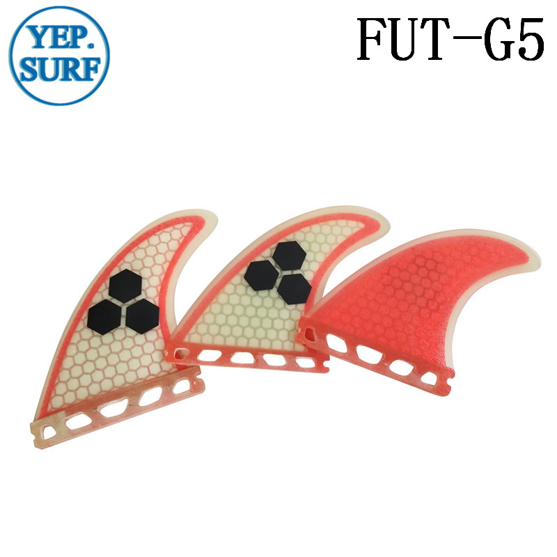 Surfboard Fin Future G5 Fin Quilhas Açıq Qırmızı Fibererglas - Su idmanı - Fotoqrafiya 5