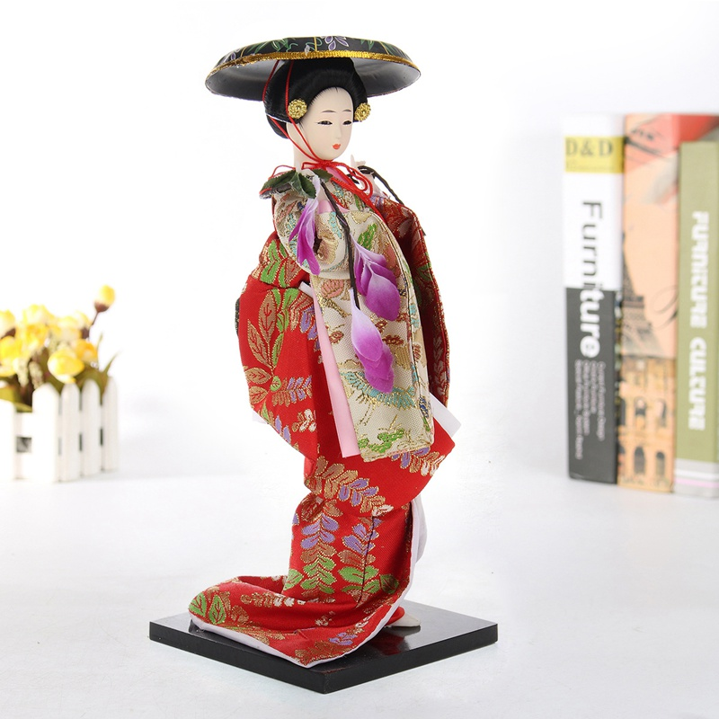 KiWarm Vintage Japonés Kabuki Geisha Muñecas Muñecas Kimono Japonés ...