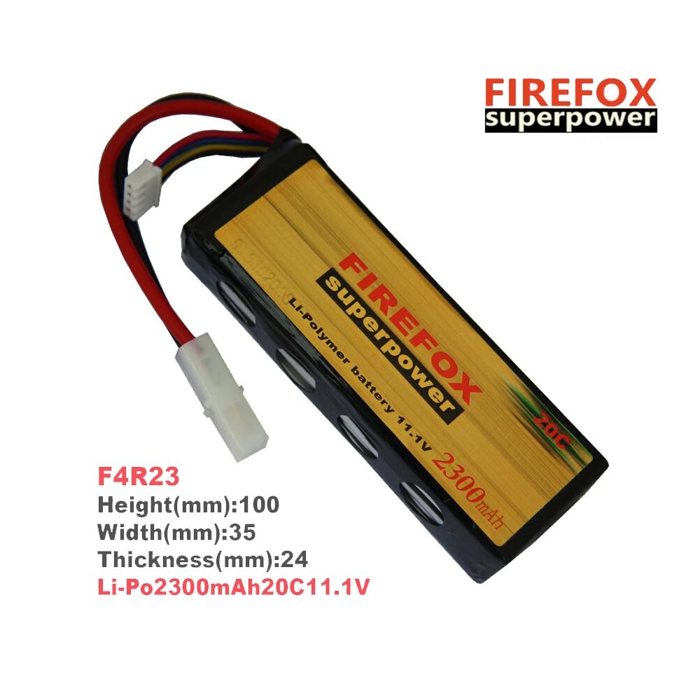 1pcs 100% Orginal FireFox 11.1V 2300mAh 20C Li Po AEG Airsoft Battery F4R23 аккумулятор li po 11 1 вольт firefox в туле