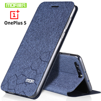 Oneplus 5 Case Flip Leather Case 2017 Phone Bag Cover Mofi Original One Plus 5 Case