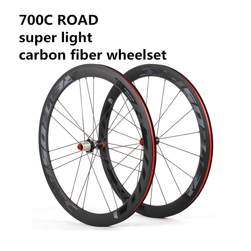 RS Super Light Road bicycle 700C Carbon Fiber 3K Road Wheel Set 4 Perrin bearing  Highway Racing Wheelset maped точилка gloo с контейнером для левшей