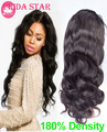 7A Peruvian Virgin Hair Glueless Full Lace Wigs With Baby Hair 180% Density Body Wave Lace Front Human Hair Wigs For Black Women
