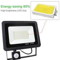Motion Sensor LED Flood Light 10W 20W 30W 50W 220V Floodlight Lamp IP65 searching Reflector foco led exterior Outdoor Spot Light