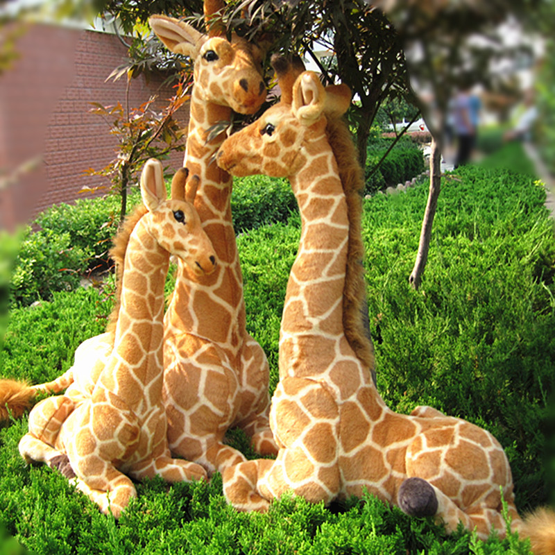 big sitting plush simulation giraffe toy creative giraffe doll birthday gift about 100cm creative simulation plush soft fox naruto toy polyethylene