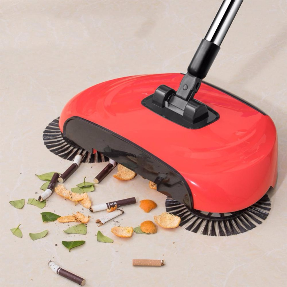 Stainless Steel Hand Push Sweepers Sweeping Machine Push Type Hand Push Magic Broom Sweepers Dustpan Household Cleaning Tools(China)