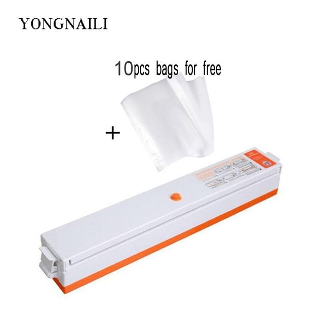 YONGNAILI Vacuüm sealer packer Machine voor verpakking afdichting voedsel afdichting vacuo huishoudelijke apparaten keuken tool inbegrepen 10 stuks zakken