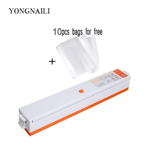 YONGNAILI Vacuum sealer packer Machine for packing sealing food seal vacuo household appliances kitchen tool included 10pcs bags цена