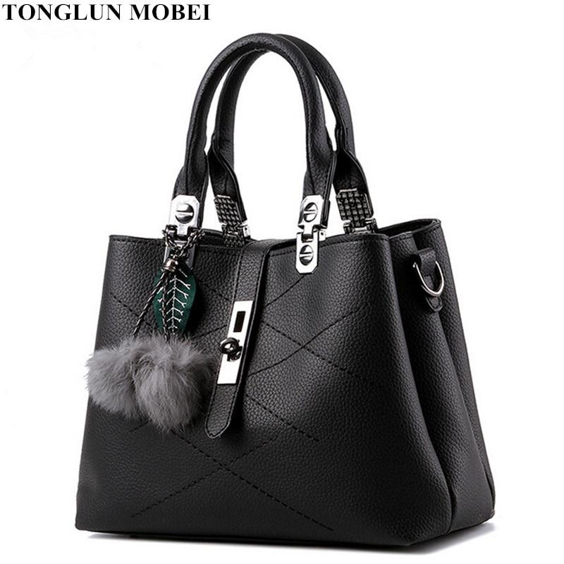 TONGLUN MOBEI 2017 Fashion Women Handbags Quality Pu Leather Luxury Women Bags D