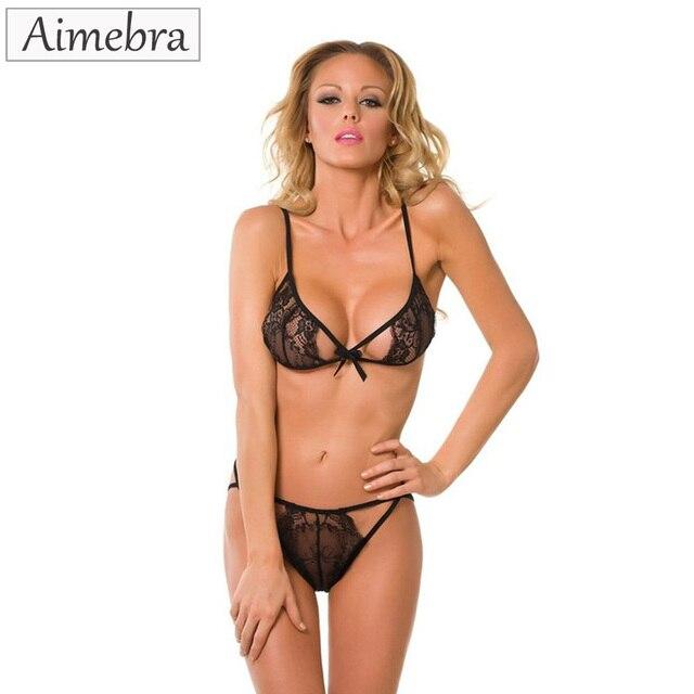 bc4e9fbf2f Aimebra Black lace sexy bikini top women s bra set Domestic lingerie sexy  underwear Seductive sexy outfit