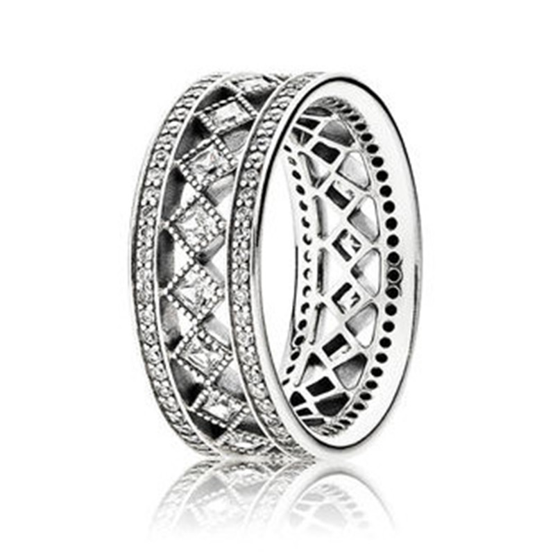 Fashion New Original 925 Sterling Silver Vintage Fascination Ring For Women Wedding Engagement Party Gift Fine Pandora Jewelry