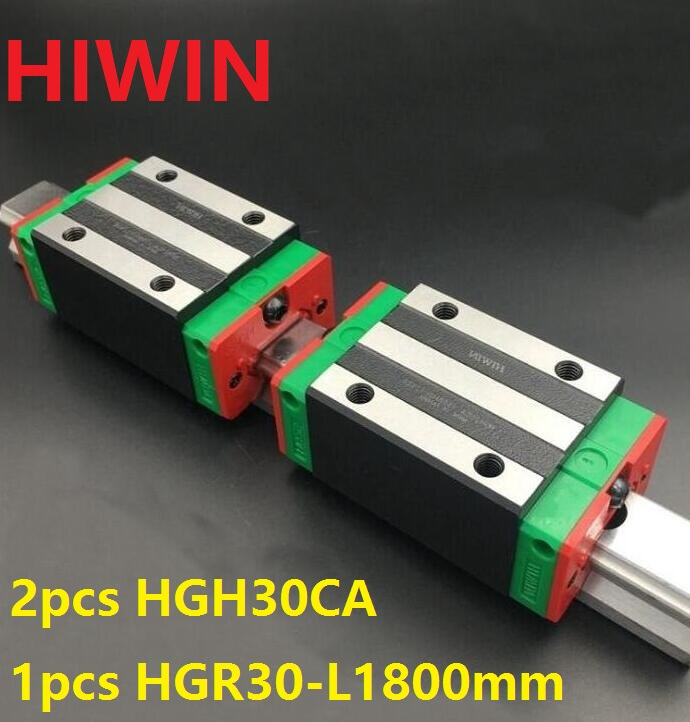 1pcs 100% original Hiwin linear rail HGR30 -L 1800mm + 2pcs HGH30CA linear narrow block for cnc router  1pcs 100% original Hiwin linear rail HGR30 -L 1800mm + 2pcs HGH30CA linear narrow block for cnc router