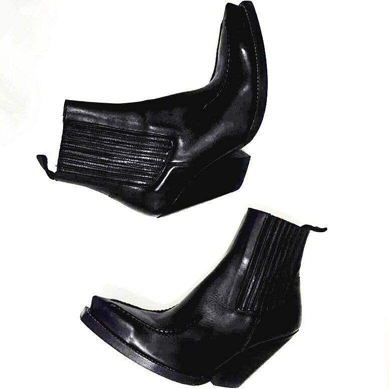 Stivali Marca 2019 Di Caviglia In Mucca Stile Britannico