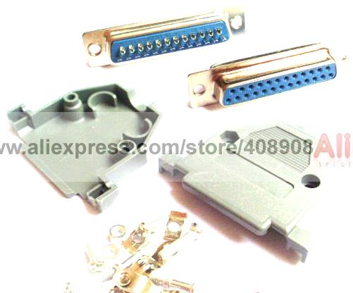 50 Pcs D Sub 25 Pin Female Socket 50pcs D Sub 25 Pin 2 Rows Plastic Hood Cover часы guess u0088l1
