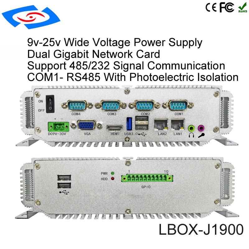 Image 5 - Без монитора 4 Гб ОЗУ 64 Гб SSD промышленный компьютер 2 lan промышленный ПК Wirh Intel Celeron N2930 четырехъядерный ЦП безвентиляторный мини ПК-in Мини-ПК from Компьютер и офис