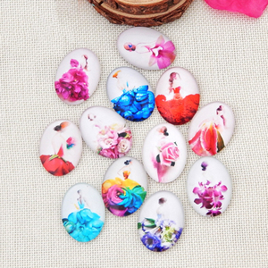 20pcs 18*25mm Flower Girls Rou