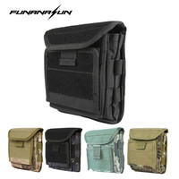 Mutifunctional 1000D Molle Belt Admin Magazine Storage Pouch Tactical Airsoft Gun Holster Camping Hunting Surviving Kits