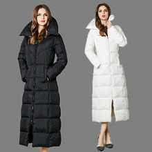 High Quality X long Duck Down Jacket 2016 Brand New Winter Long Women Coat Stand Collar