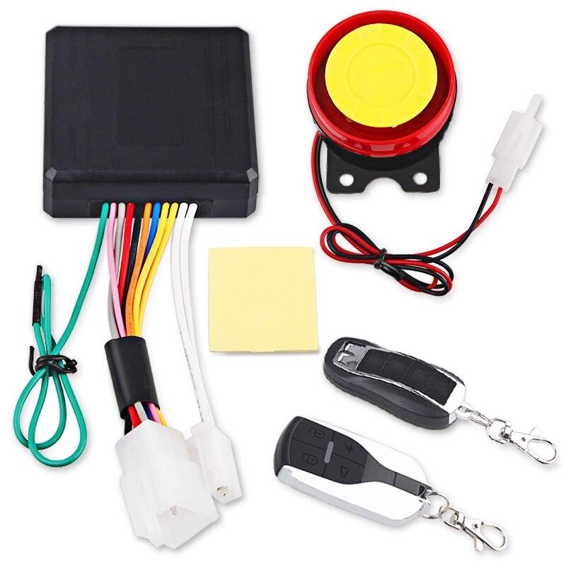Universal Motorrad Bike Alarm System Roller Anti-theft Sicherheit Alarmanlage Fernbedienung Engine Start + Alarme Moto Lautsprecher