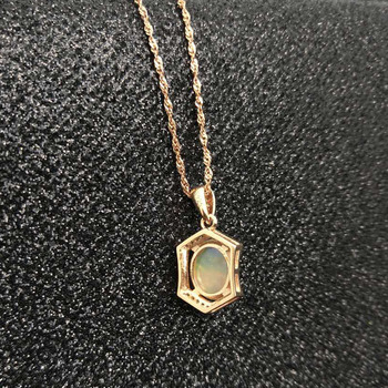 Ethopian Opal Pendant with Silver Chain 4