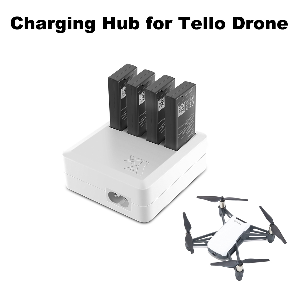 4 IN 1 Tello Charger Multi Battery Charging Hub Intelligent Battery Charger for DJI Tello Drone EU/US charging 4 Batteries